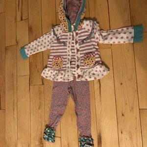 Matilda Jane sweatshirt and legging set